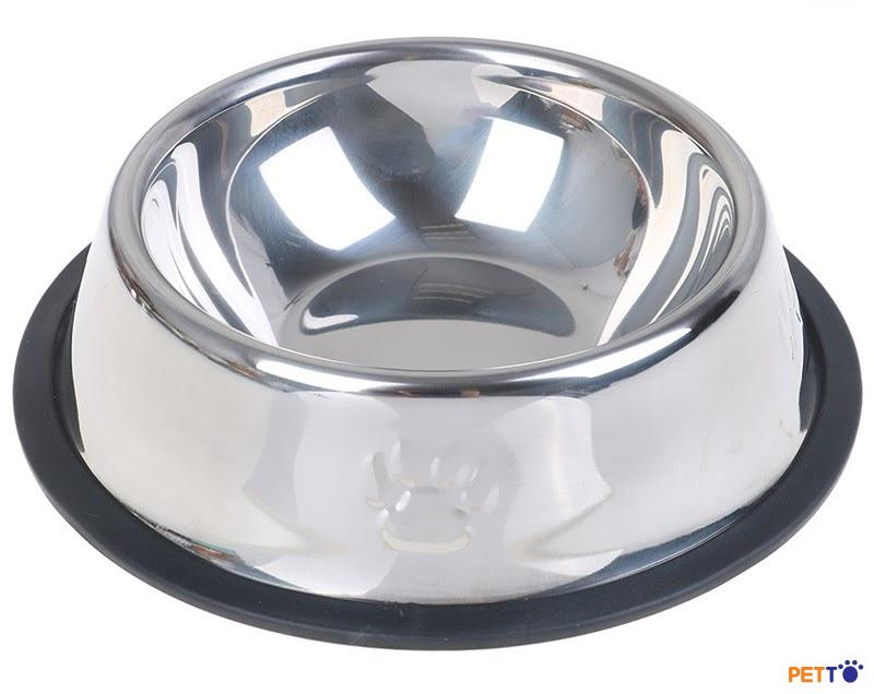 These bowls are sometimes made with a non-skid rim on the bottom to prevent spilling