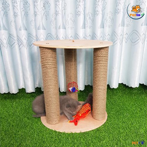 Cachs làm trụ cào móng cho mèo dạng thẳng đứng